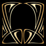 Vector art deco frame. Vector art nouveau floral elements for print and design Royalty Free Stock Photo