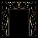 Vector art deco frame. Vector art nouveau frames for print and design Stock Photography