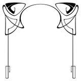 Vector art deco frame. Vector art nouveau frames for print and design Royalty Free Stock Image
