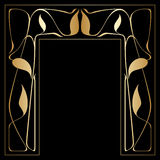 Vector art deco frame. Vector art nouveau frames for print and design Stock Photos