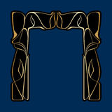 Vector art deco frame. Vector art nouveau frames for print and design Royalty Free Stock Photos