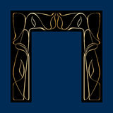 Vector art deco frame. Vector art nouveau frames for print and design Royalty Free Stock Photo