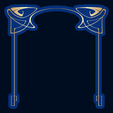 Vector art deco frame. Vector art nouveau frames for print and design Royalty Free Stock Photography