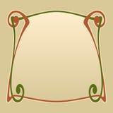 Vector art deco frame. Vector art nouveau invitation card with space for text Stock Photos