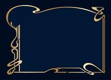 Vector art deco frame. Vector art nouveau vintage frame for design invitation card, packing, booklet, print Royalty Free Stock Photography