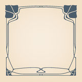 Vector art deco frame. Vector art deco frame with space for text Stock Photography