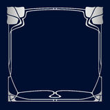 Vector art deco frame. Royalty Free Stock Image