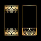Vector art deco frames. Royalty Free Stock Image
