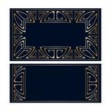 Vector art deco frames. Stock Photos