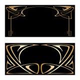 Vector art deco frames. Vector art nouveau frames for print and design Stock Images