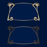 Vector art deco frames. Vector art nouveau frames for print and design Royalty Free Stock Photo