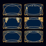 Vector art deco frames. Royalty Free Stock Images