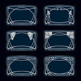 Vector art deco frames. Stock Images