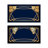 Vector art deco frames. Vector art deco frames with space for text Royalty Free Stock Photos