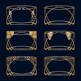 Vector art deco frames. Vector art deco frames with space for text Royalty Free Stock Photo