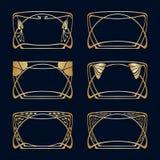 Vector art deco frames. Royalty Free Stock Photo