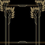 Vector art deco invitation card. Royalty Free Stock Image