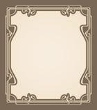 Vector art deco invitation card. Royalty Free Stock Image