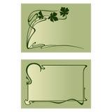 Vector art deco invitation card. Royalty Free Stock Photos