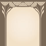 Vector art deco invitation card. Stock Images