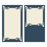 Vector art deco invitation cards. Vector invitation cards with art nouveau frames and space for text Royalty Free Stock Photography