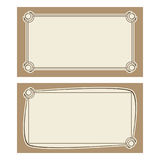 Vector art deco invitation cards. Vector invitation cards with art nouveau frames and space for text Royalty Free Stock Images