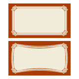 Vector art deco invitation cards. Royalty Free Stock Photos