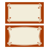 Vector art deco invitation cards. Stock Photo