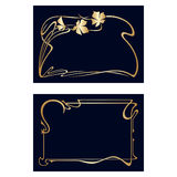 Vector art deco invitation cards. Vector art nouveau invitation cards with space for text Stock Photos