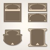 Vector art deco invitation cards. Royalty Free Stock Photography