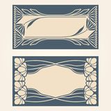Vector art deco invitation cards. Stock Photography