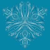 Vector art deco pattern with abstract flowers in fashion style. Royalty Free Stock Images