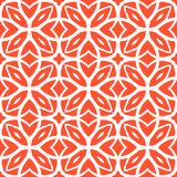 Vector art deco pattern with lacing shapes. Vector geometric art deco pattern with lacing shapes in coral red and white Stock Illustration