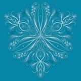 Vector Art- DecoMuster mit abstrakter Art der Blumen in Mode lizenzfreie abbildung