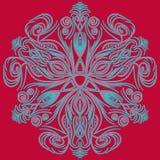 Vector Art- DecoMuster mit abstrakter Art der Blumen in Mode stock abbildung