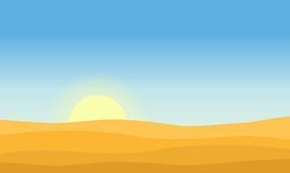 Vector art of desert at morning Royalty Free Stock Photography
