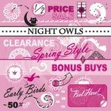 Vector Art Elements Set Women Store Catalog Sale Royalty Free Stock Photography