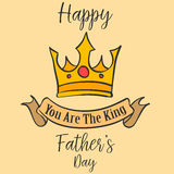 Vector art father day card style. Collection royalty free illustration