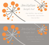 Vector art flowers pattern invitation greeting Stock Photography