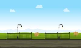 Vector art of garden landscape. For game background Stock Image
