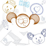 Vector art hand drawn illustration of personality, emotions Royalty Free Stock Images