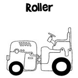 Vector art illustration of roller. Collection stock Stock Photos