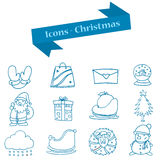 Vector art of Merry Christmas icons set Royalty Free Stock Images