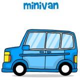 Vector art of minivan cartoon Royalty Free Stock Photos