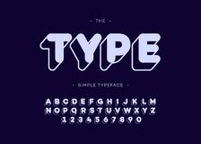 Vector Art mutige Typografie-GROTESK-Art des Gusses 3d Stock Abbildung