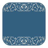 Vector art nouveau card. Vector art nouveau frame with space for text Royalty Free Stock Photo