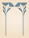 Vector art nouveau card. Vector art nouveau invitation card with space for text Royalty Free Stock Photos
