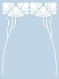 Vector art nouveau card. Stock Photo