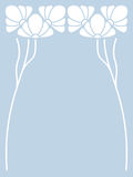 Vector art nouveau card. Vector art nouveau invitation card with space for text Stock Photo