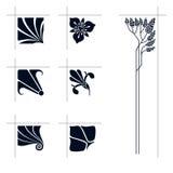 Vector art nouveau elements. Royalty Free Stock Images